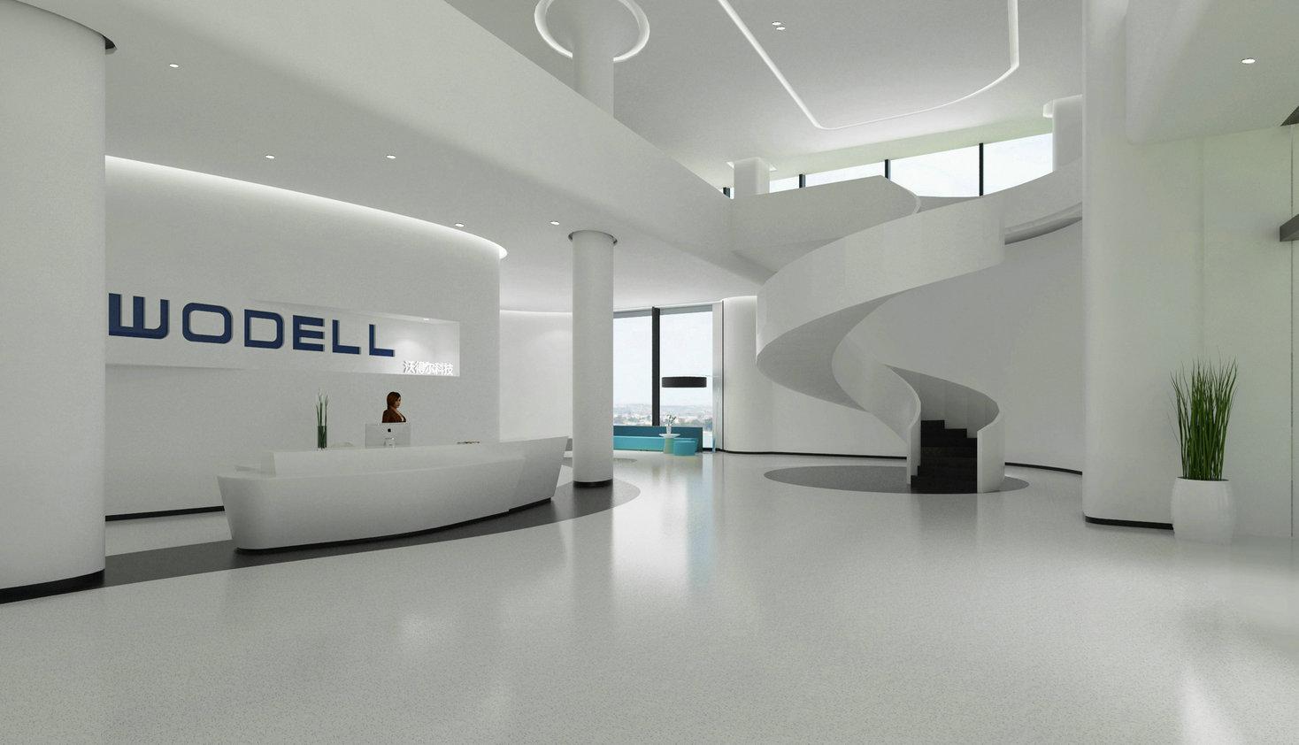 无机磨石地坪应用于公司展厅高档大气